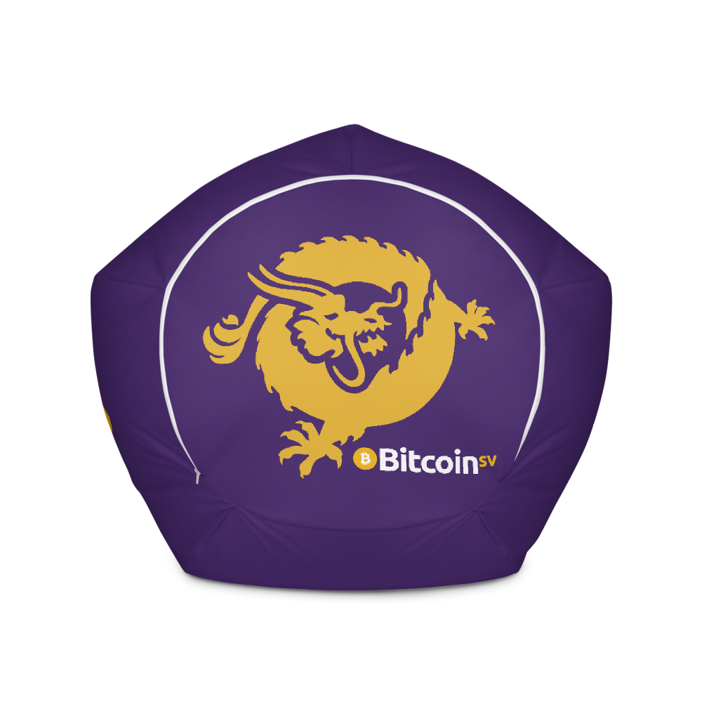 Bitcoin SV Logo Purple Bean Bag Cover Only   - zeroconfs