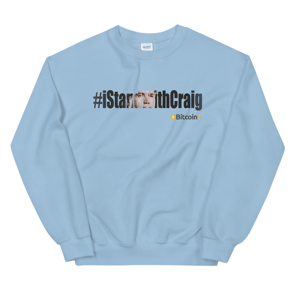 #IStandWithCraig Bitcoin SV Women's Sweatshirt Light Blue S - zeroconfs