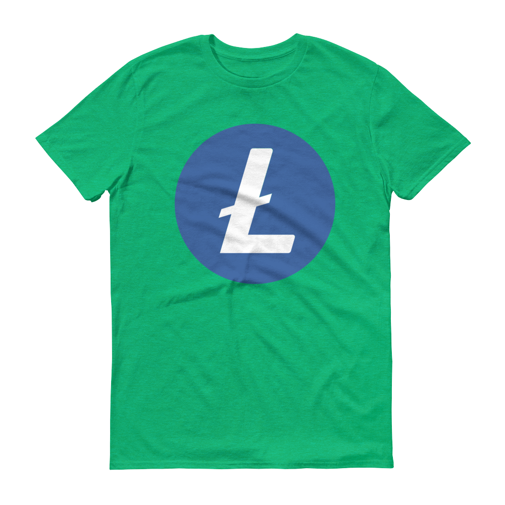 Litecoin Short-Sleeve T-Shirt Heather Green S - zeroconfs