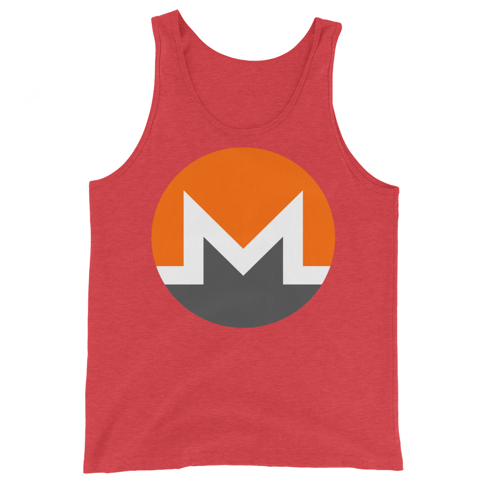 Monero Tank Top Red Triblend XS - zeroconfs
