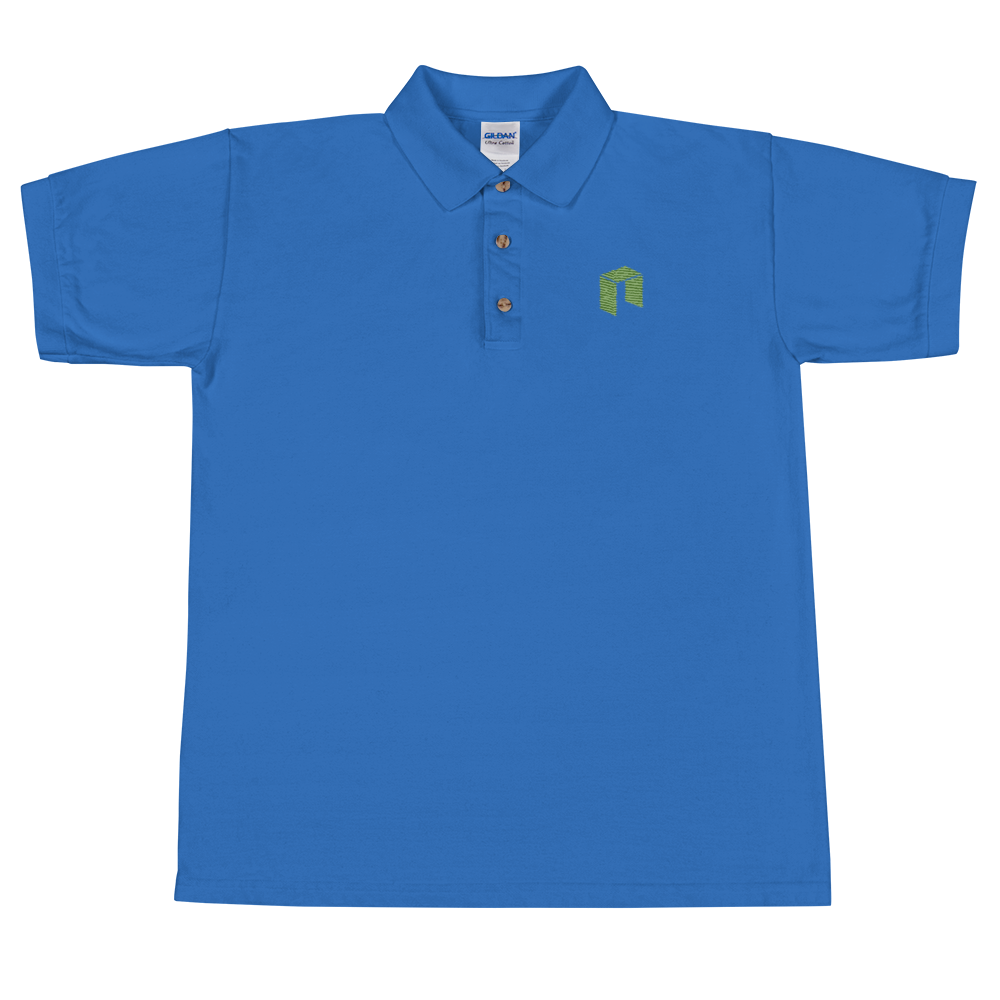 NEO Embroidered Polo Shirt Royal S - zeroconfs