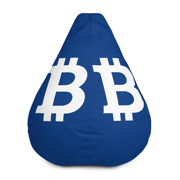 Bitcoin SV Navy Bean Bag Cover Only Default Title  - zeroconfs
