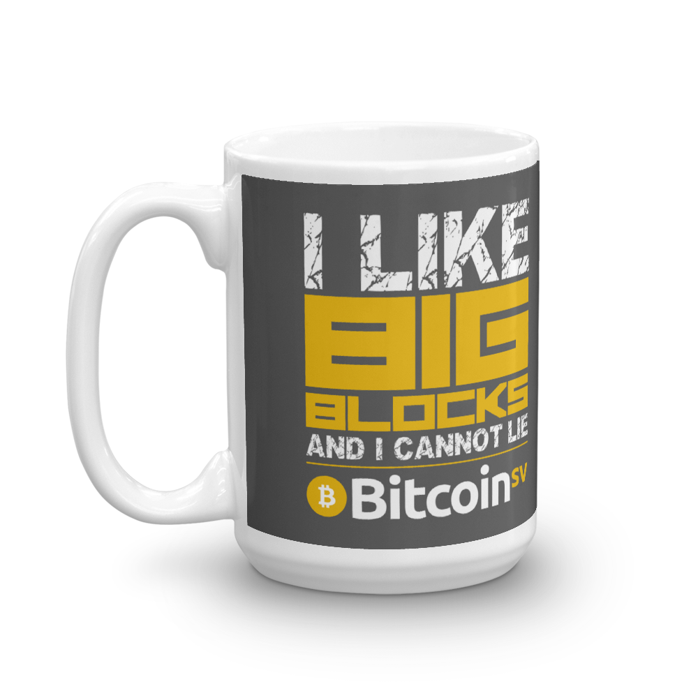 I Like Big Blocks Bitcoin SV Coffee Mug   - zeroconfs