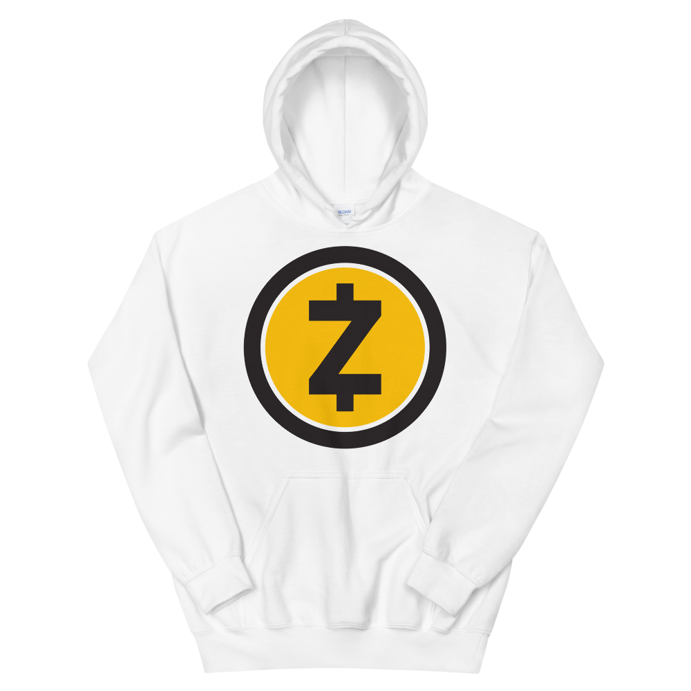 Zcash Hooded Sweatshirt White S - zeroconfs