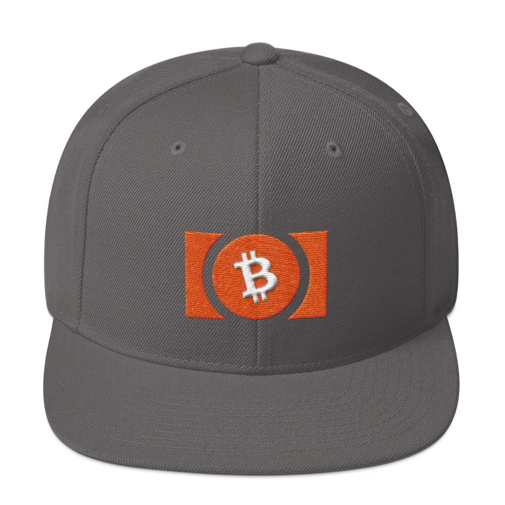 Bitcoin Cash Snapback Hat Dark Grey  - zeroconfs