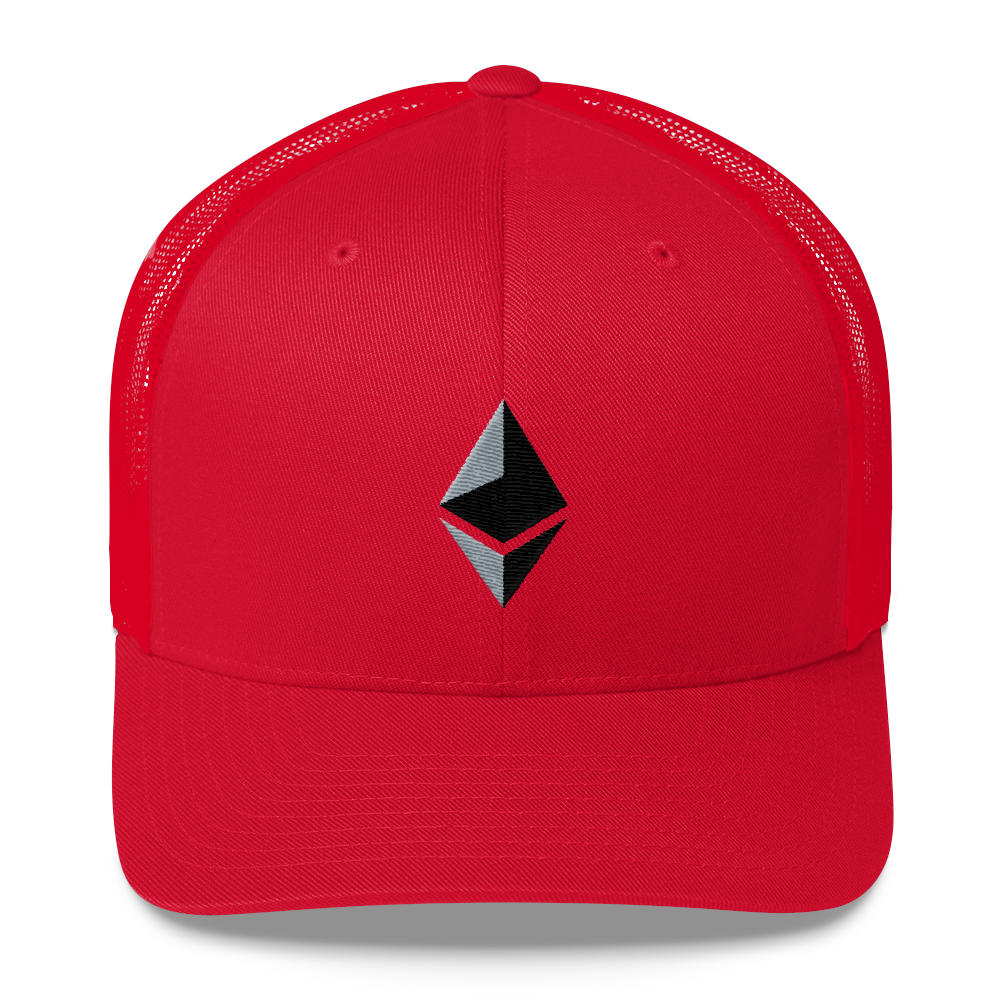 Ethereum Trucker Cap Red  - zeroconfs