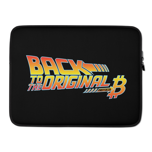 Back To The Original Bitcoin Protocol Laptop Sleeve 15 in  - zeroconfs