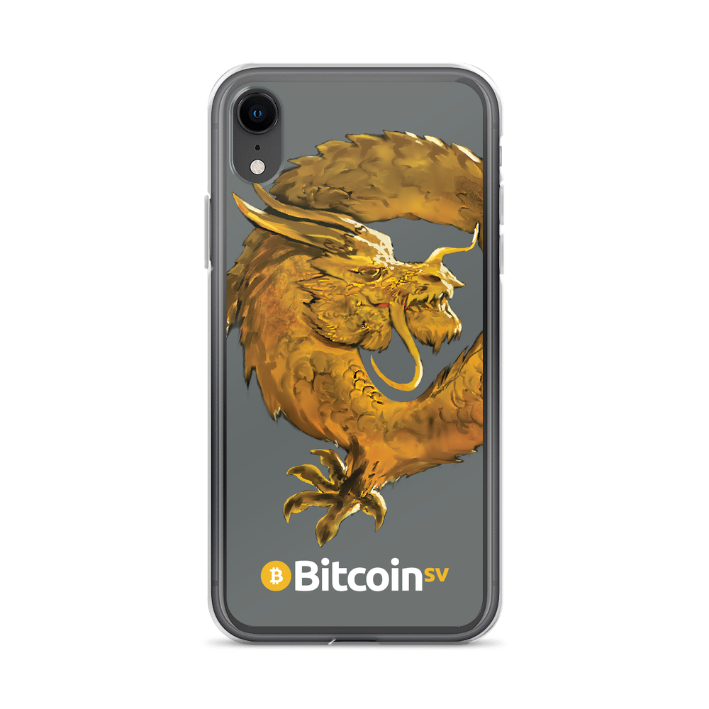 Bitcoin SV Woken Dragon iPhone Case Gray iPhone XR  - zeroconfs