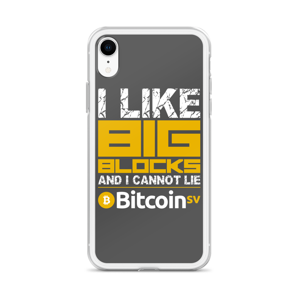 I Like Big Blocks Bitcoin SV iPhone Case   - zeroconfs