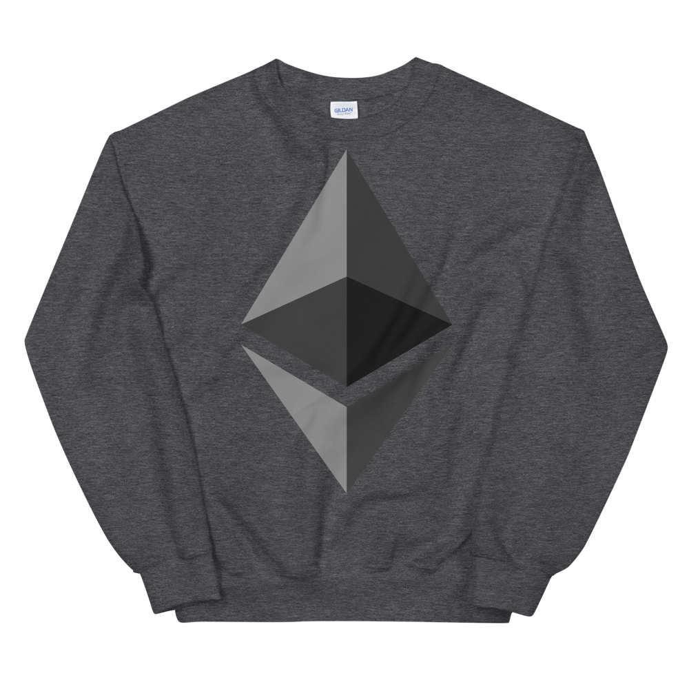 Ethereum Sweatshirt Dark Heather S - zeroconfs