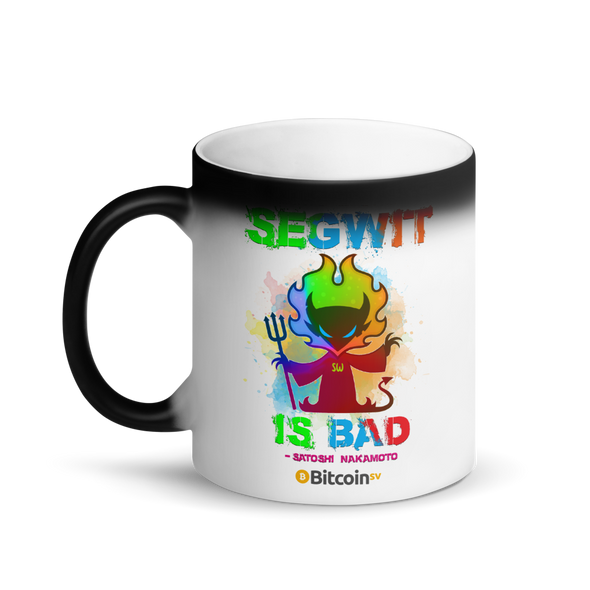 SegWit Is Bad Bitcoin SV Magic Mug   - zeroconfs