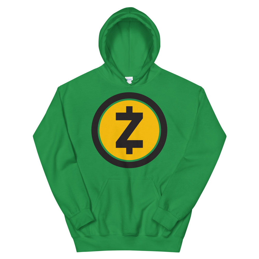 Zcash Women's Hooded Sweatshirt Irish Green S - zeroconfs