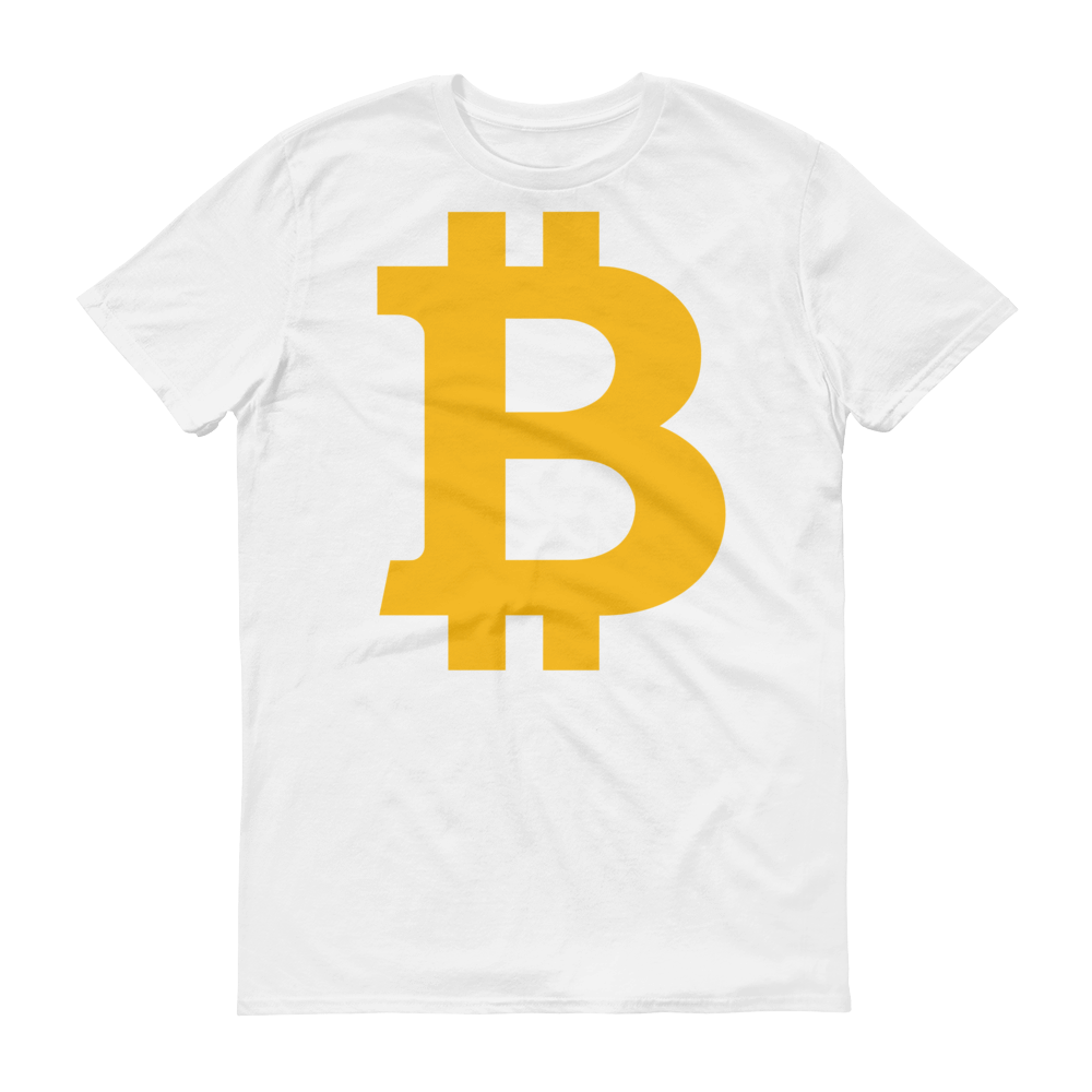 Bitcoin B Short-Sleeve T-Shirt White S - zeroconfs