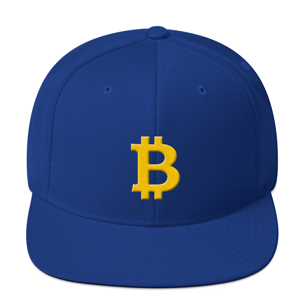 Bitcoin B Snapback Hat Royal Blue  - zeroconfs