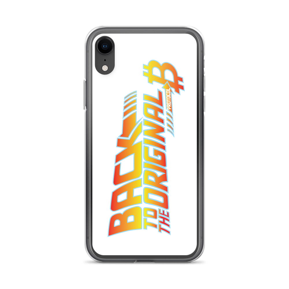 Back To The Original Bitcoin Protocol iPhone Case White iPhone XR  - zeroconfs