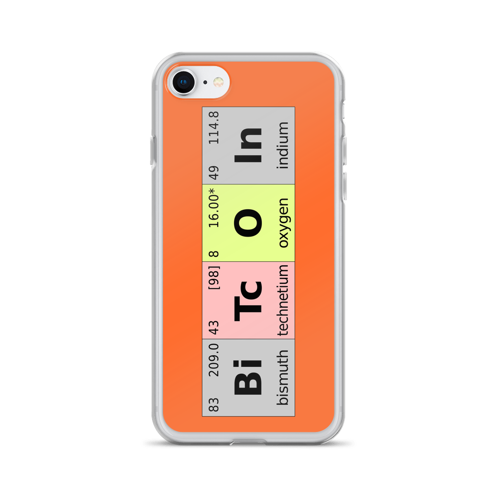 Bitcoin Periodic Table iPhone Case iPhone 7/8  - zeroconfs