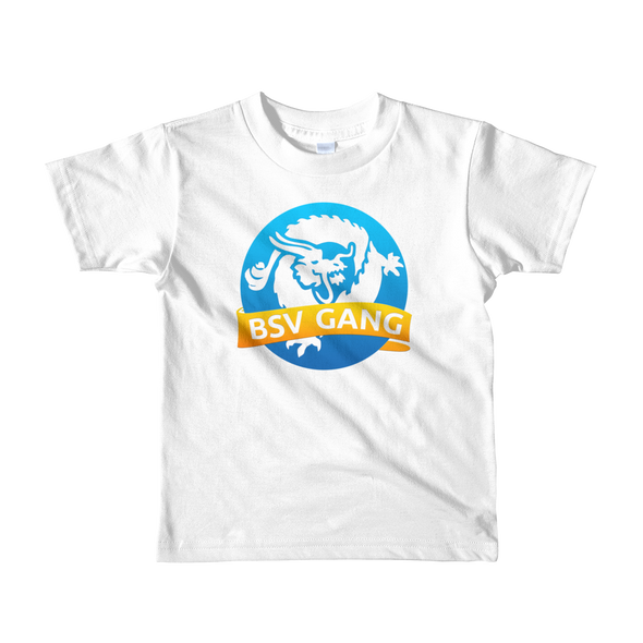 Bitcoin SV Gang Short Sleeve Kids T-Shirt White 2yrs - zeroconfs