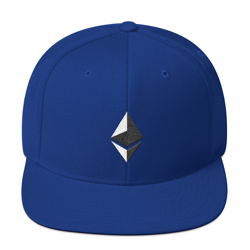 Ethereum Snapback Hat Royal Blue  - zeroconfs