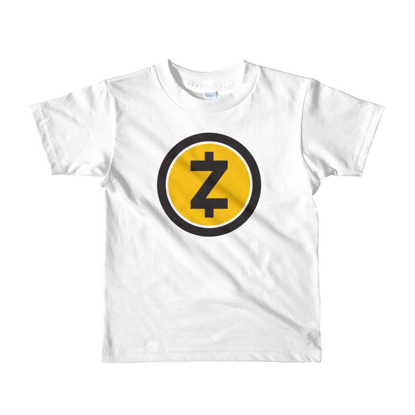 Zcash Short Sleeve Kids T-Shirt White 2yrs - zeroconfs