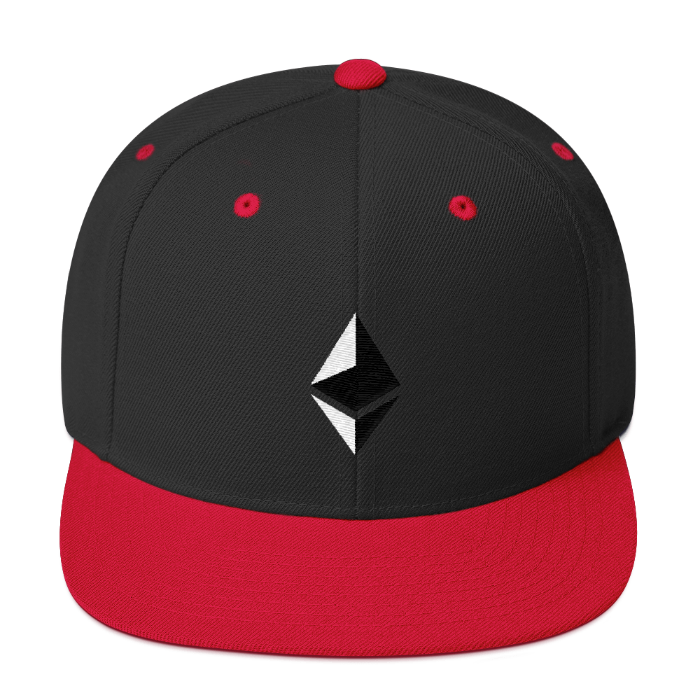 Ethereum Snapback Hat Black/ Red  - zeroconfs
