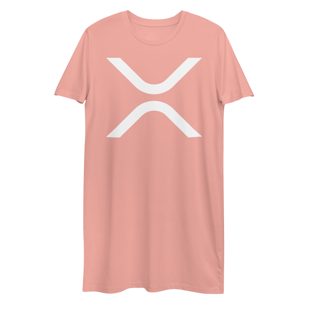 Ripple Premium T-Shirt Dress Canyon Pink XS - zeroconfs