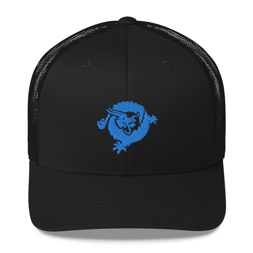 Bitcoin SV Dragon Trucker Cap Blue Black  - zeroconfs
