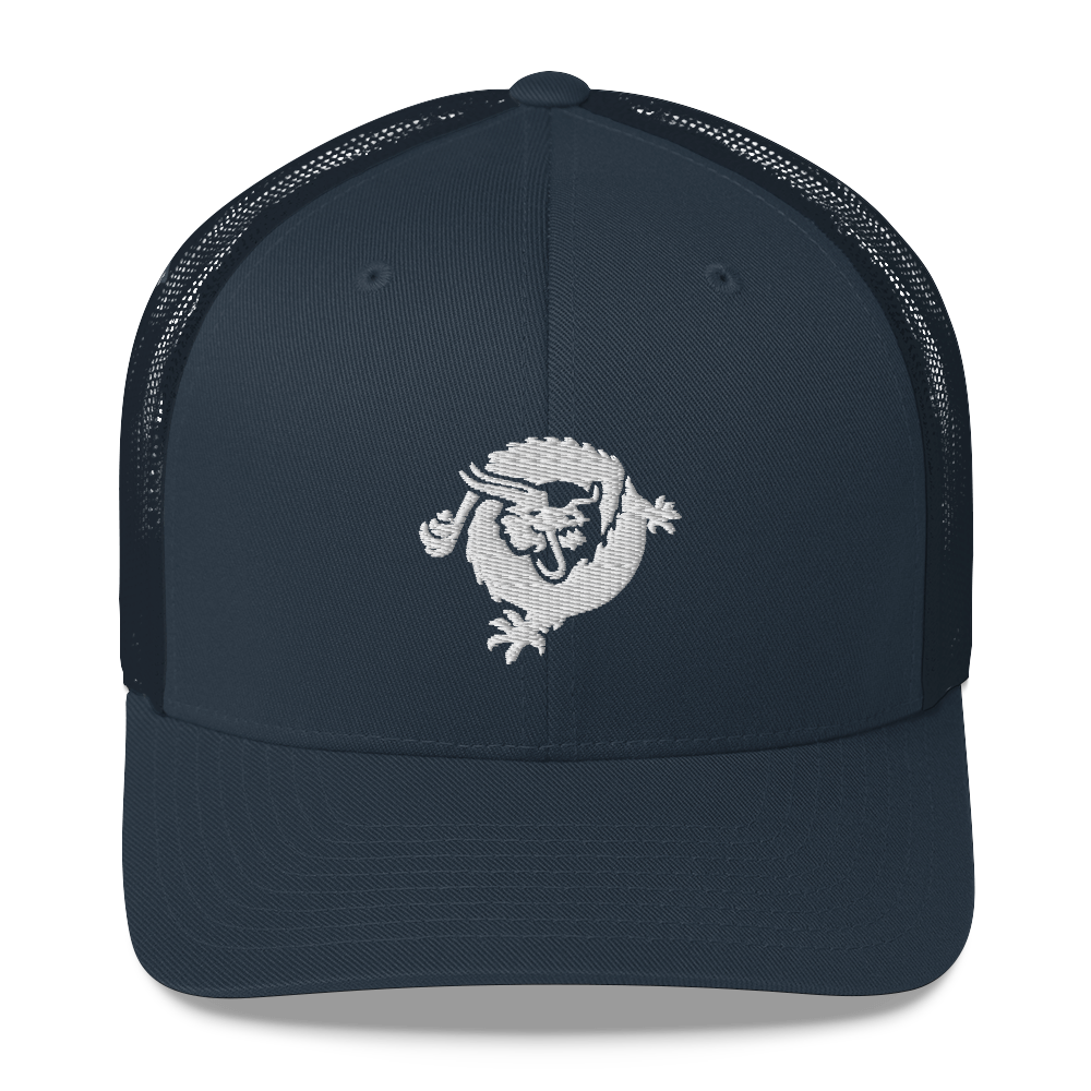 Bitcoin SV Dragon Trucker Cap White Navy  - zeroconfs