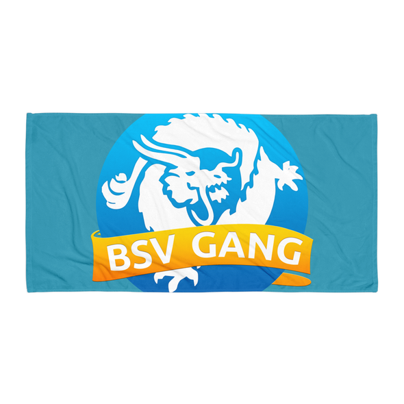 Bitcoin SV Gang Beach Towel Blue Default Title  - zeroconfs