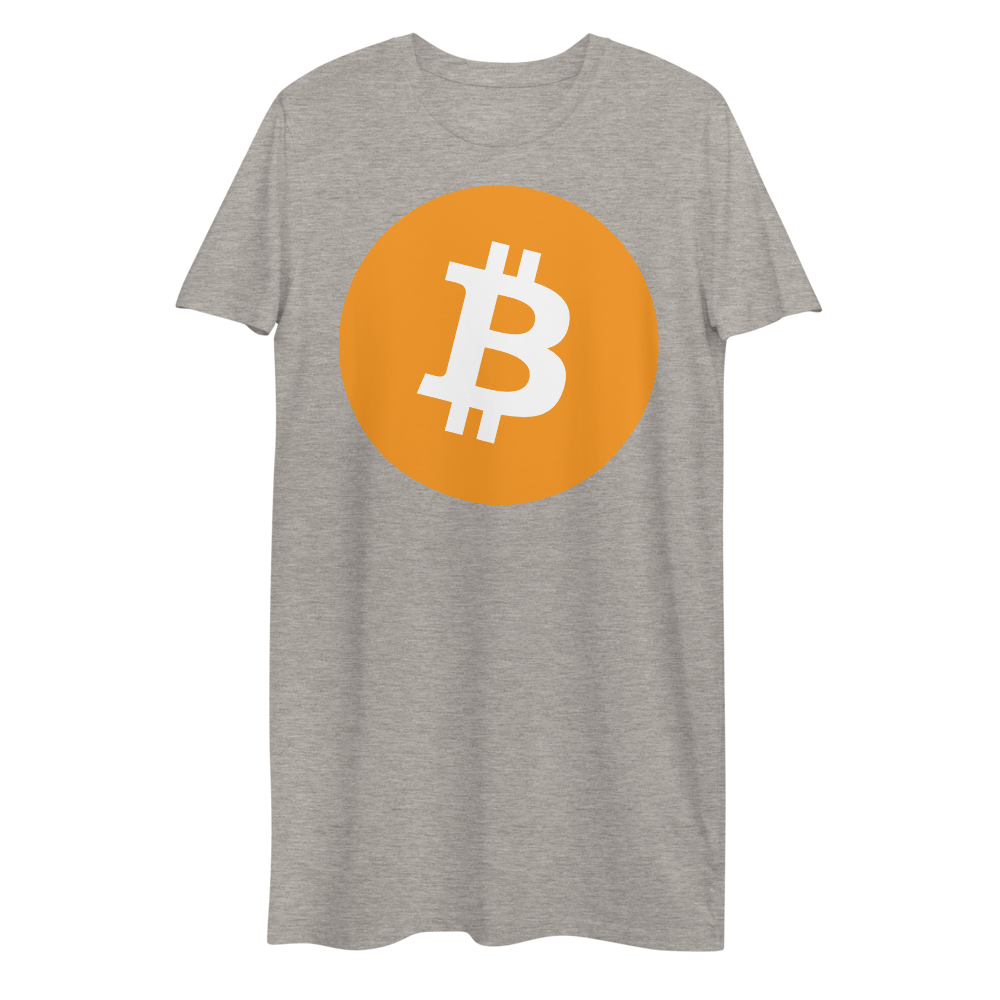 Bitcoin Core Premium T-Shirt Dress Heather Grey XS - zeroconfs