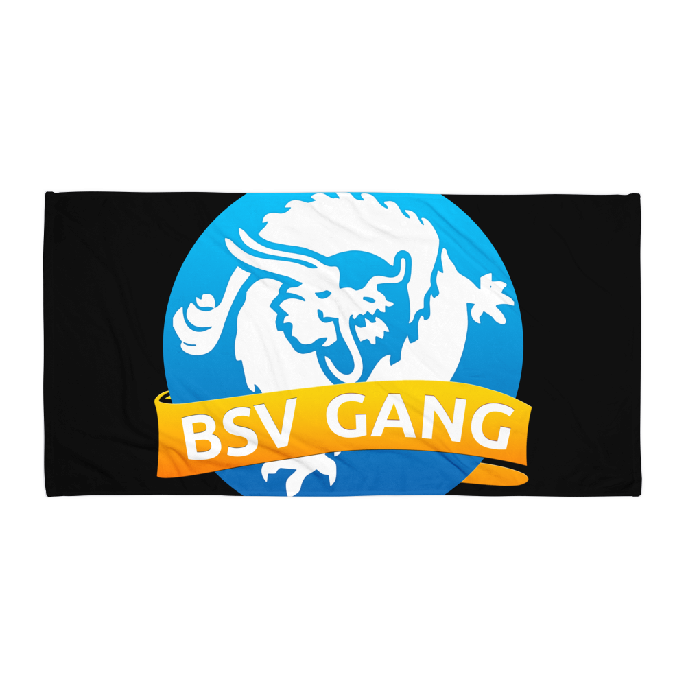 Bitcoin SV Gang Beach Towel Black Default Title  - zeroconfs