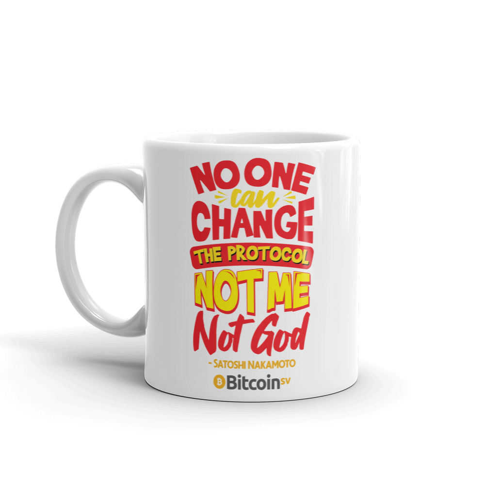 Locked Protocol Bitcoin SV Coffee Mug   - zeroconfs