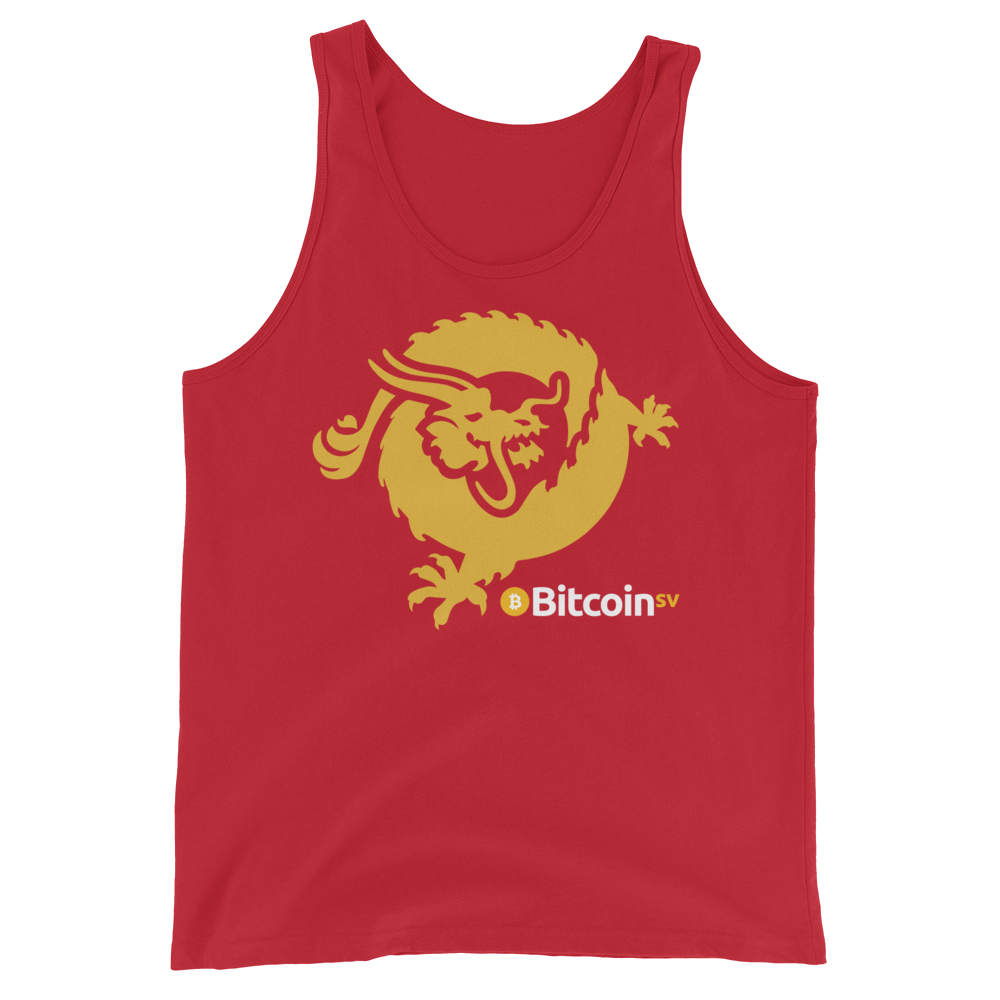 Bitcoin SV Dragon Tank Top Red XS - zeroconfs