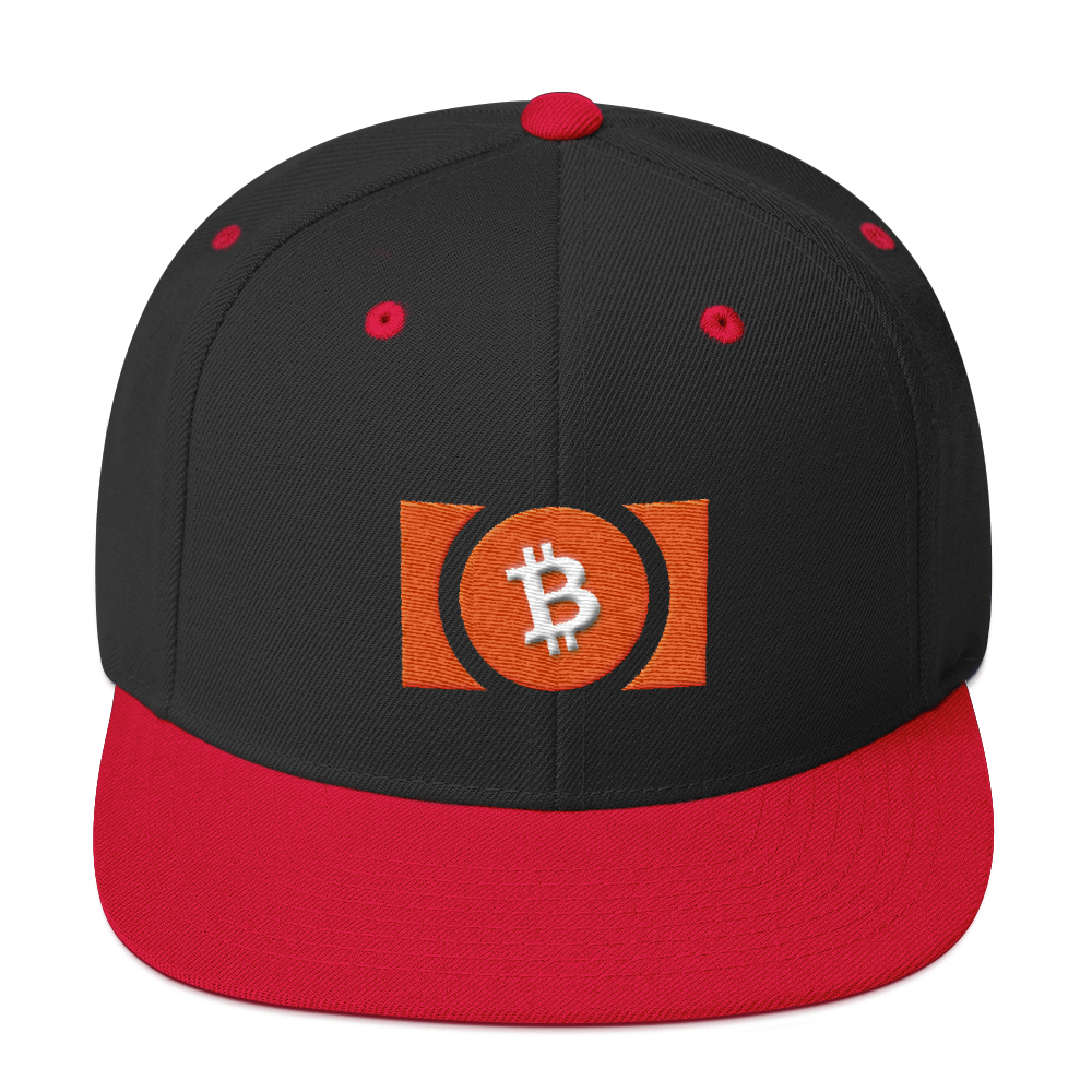 Bitcoin Cash Snapback Hat Black/ Red  - zeroconfs