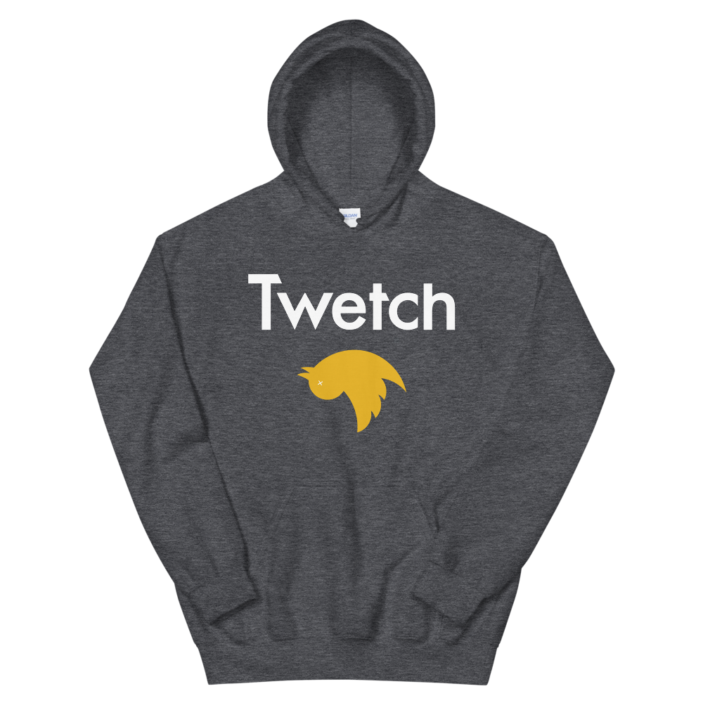 Twetch Hooded Sweatshirt Dark Heather S - zeroconfs