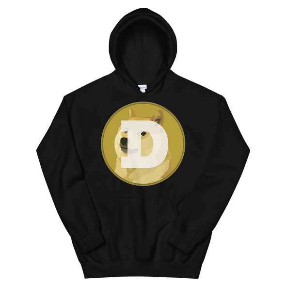 Dogecoin Women's Hooded Sweatshirt Black S - zeroconfs
