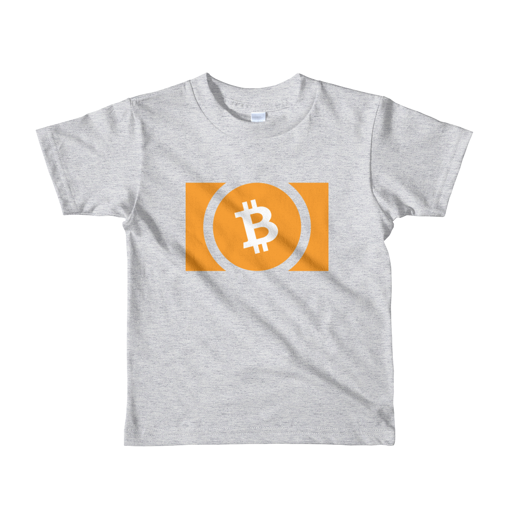Bitcoin Cash Short Sleeve Kids T-Shirt Heather Grey 2yrs - zeroconfs