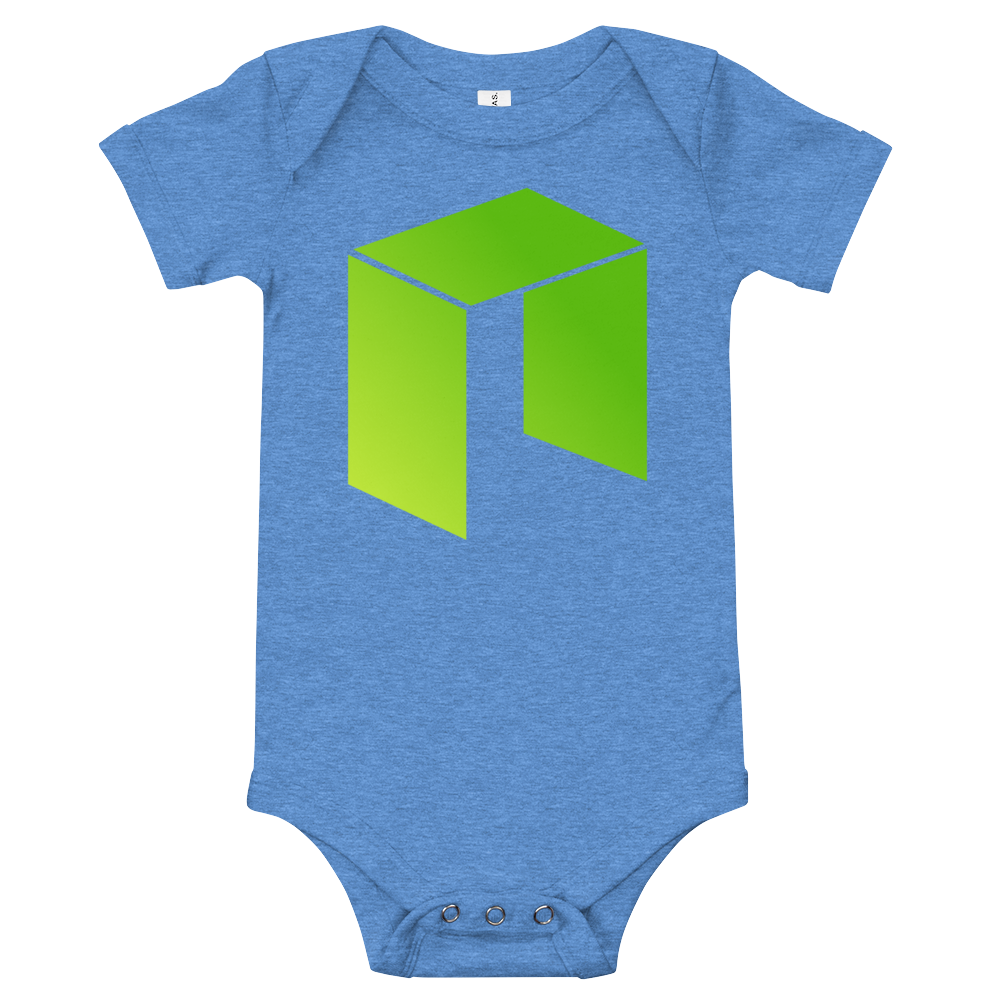 NEO Baby Bodysuit Heather Columbia Blue 3-6m - zeroconfs