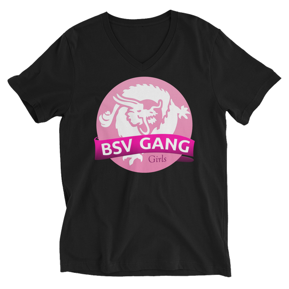 Bitcoin SV Gang Girls V-Neck T-Shirt Black S - zeroconfs