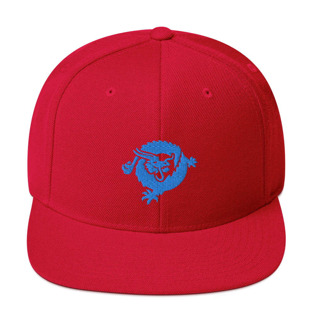 Bitcoin SV Dragon Snapback Hat Blue Red  - zeroconfs