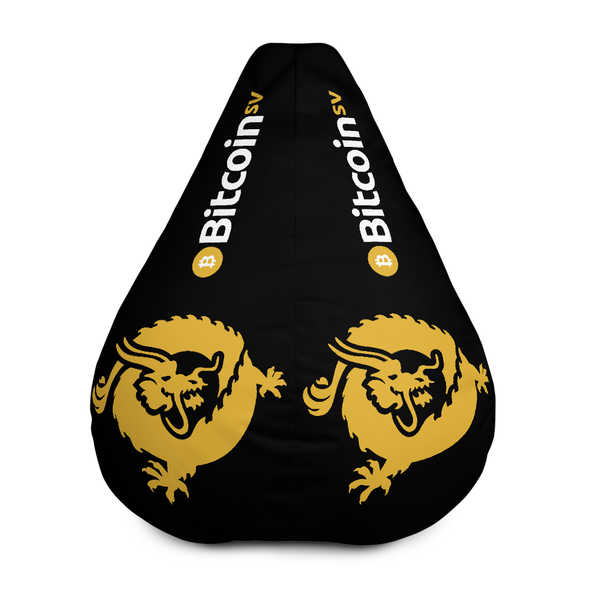 Bitcoin SV Dragon Black Bean Bag Cover Only Default Title  - zeroconfs