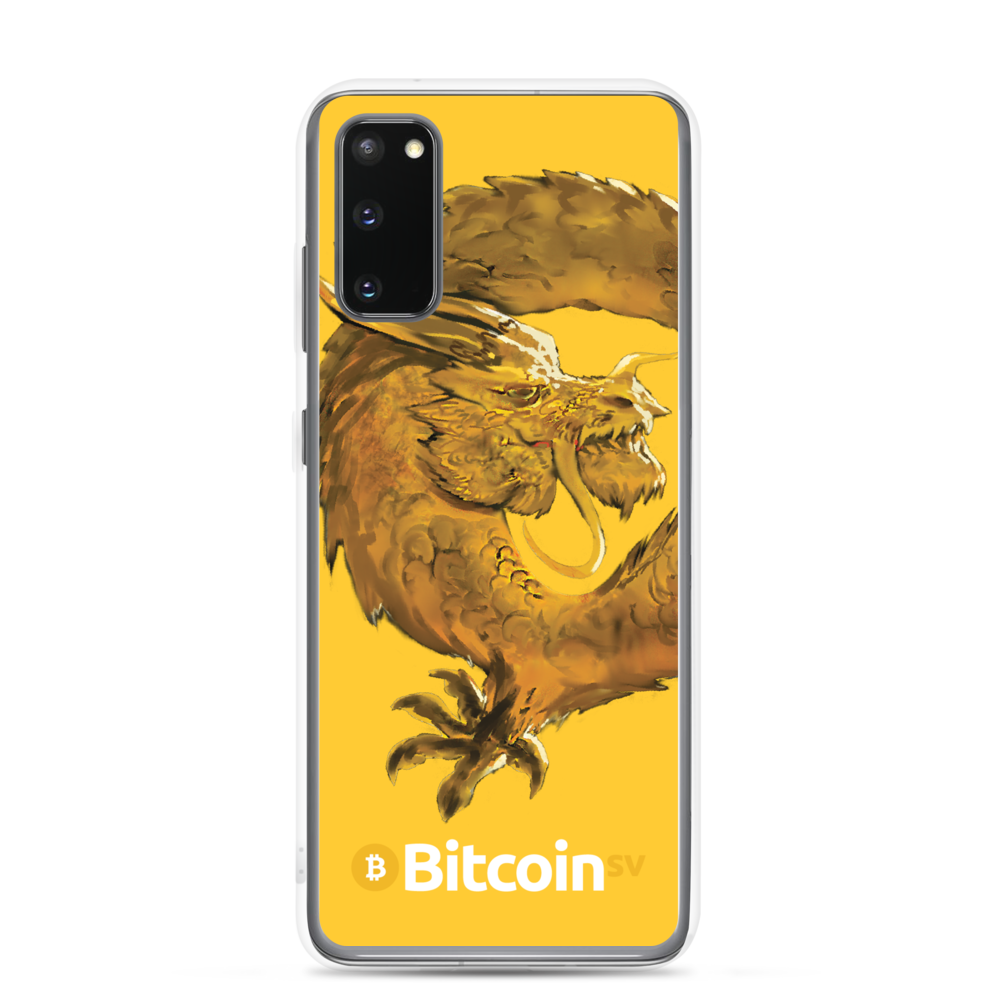 Bitcoin SV Woken Dragon Samsung Case Yellow Samsung Galaxy S20  - zeroconfs