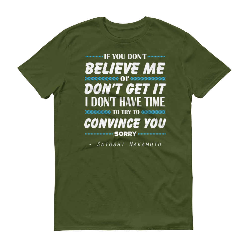 If You Don't Believe Me Bitcoin Short-Sleeve T-Shirt City Green S - zeroconfs