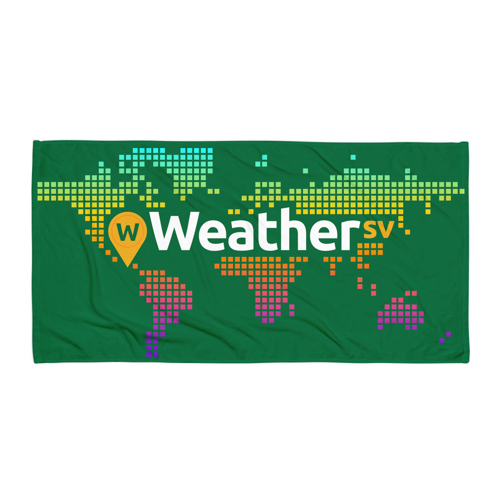 Weather SV Beach Towel Green Default Title  - zeroconfs