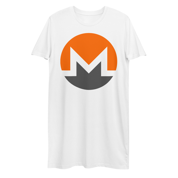 Monero Premium T-Shirt Dress White XS - zeroconfs