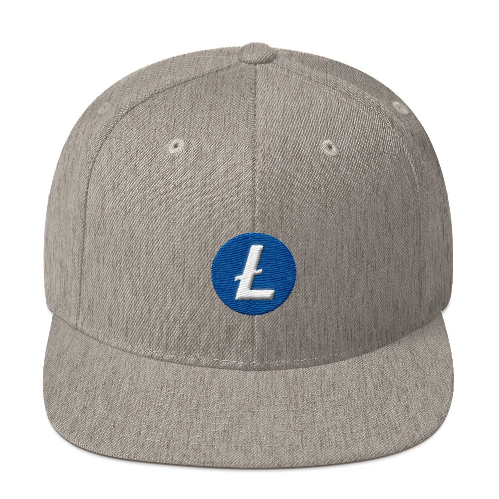 Litecoin Snapback Hat Heather Grey  - zeroconfs