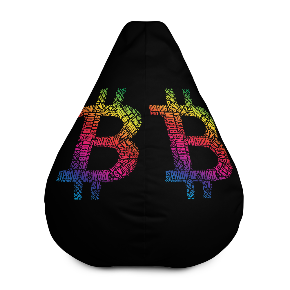 Bitcoin SV Proof Of Work Black Bean Bag Cover Only Default Title  - zeroconfs
