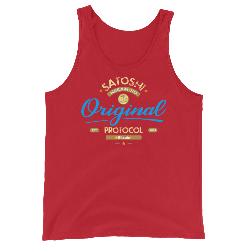 Original Bitcoin Tank Top Red XS - zeroconfs