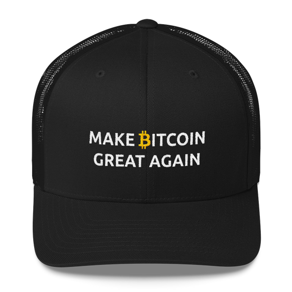 Make Bitcoin Great Again Trucker Cap Black  - zeroconfs