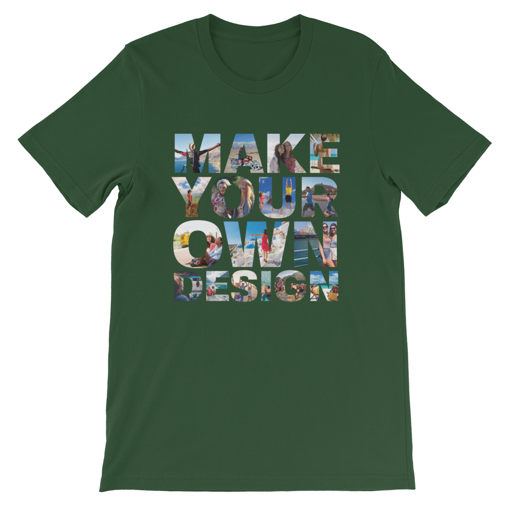 Make Your Own Design Customizable Short-Sleeve T-Shirt Forest S - zeroconfs