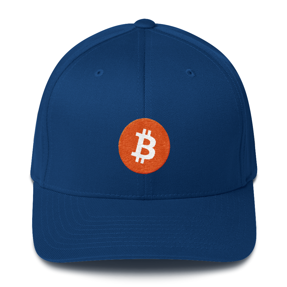 Bitcoin Core Flexfit Cap Royal Blue S/M - zeroconfs